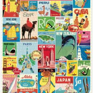 Vintage Puzzle - Bon Voyage 1000 Piece - Cavallini & Co