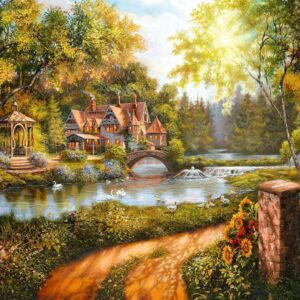 Cottage by the River 500 Piece Puzzle - Ravensburger