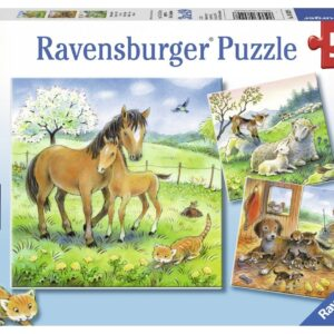 Cuddle Time 3 x 49 Piece puzzle - Ravensburger