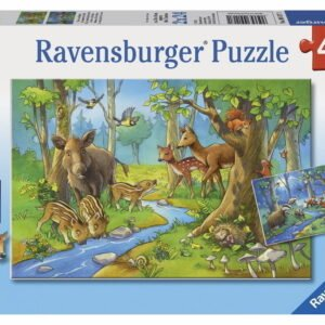 Cute Forest Animals 2 x 24 Piece Puzzle - Ravensburger