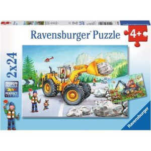 Diggers at Work 2 x 24 Piece Puzzle - Ravensburger