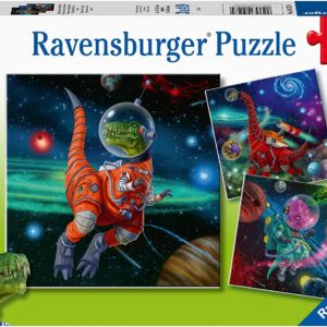 Dinosaurs in Space 3 x 49 Piece Puzzle - Ravensburger