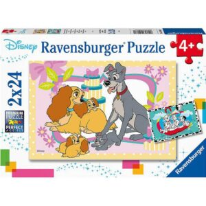 Disney Favorite Puppies 2 x 24 Piece Puzzle - Ravensburger