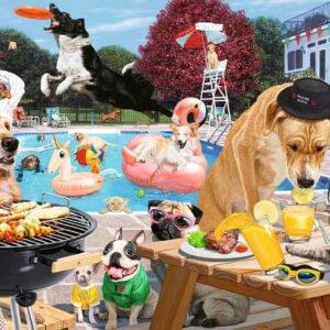 Dog Days of Summer 1000 Piece Puzzle - Ravensburger