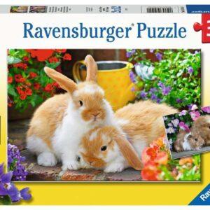 Guinea Pigs & Bunnies 2 x 12 Piece Puzzle - Ravensburger