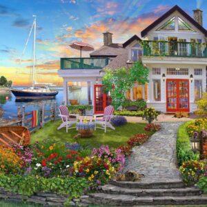 Home Sweet Home 3 - Coastside Home 1000 piece Puzzle - Holdson