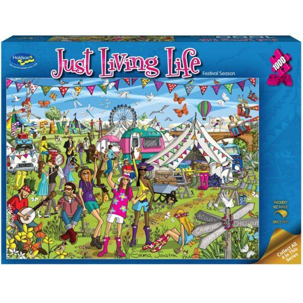 Just Living Life - Festival Season 1000 piece Puzzle - Holdson