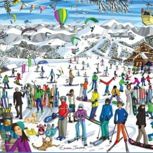 Just Living Life - Ski 1000 Piece Puzzle - Holdson