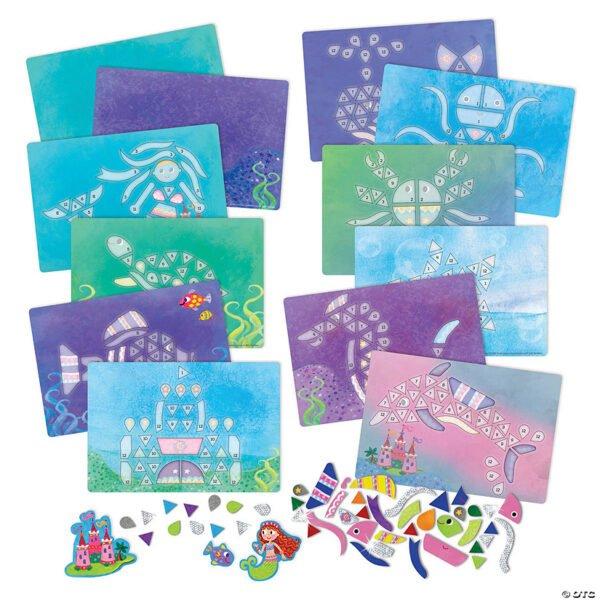 Mermaid Island Sparkle Mosaics - Peaceable Kingdom