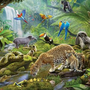 Rainforest Animals 60 Piece Puzzle - Ravensburger