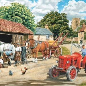 The English Village 3 - Passing the Smithy 500 XL Piece Puzzle - Holdson
