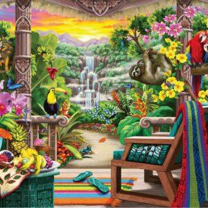 Tropical Retreat 750 Larger Piece Jigsaw Puzzle - Ravensburger