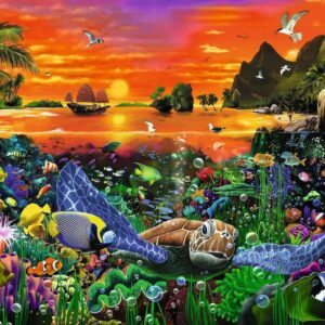 Turtle in the Reef 500 Piece Puzzle - Ravensburger