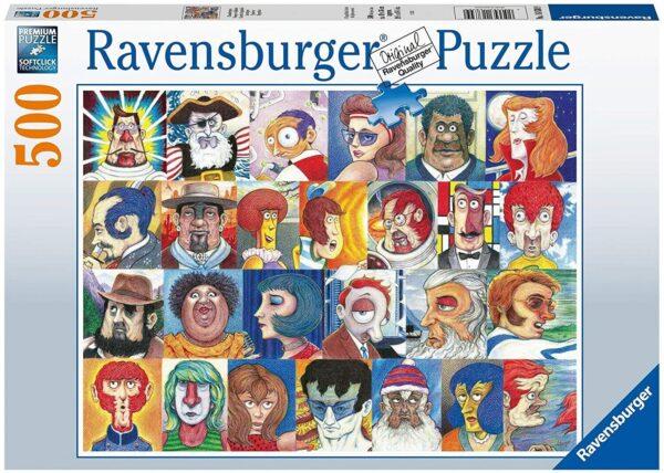 Typefaces 500 Piece Puzzle - Ravensburger