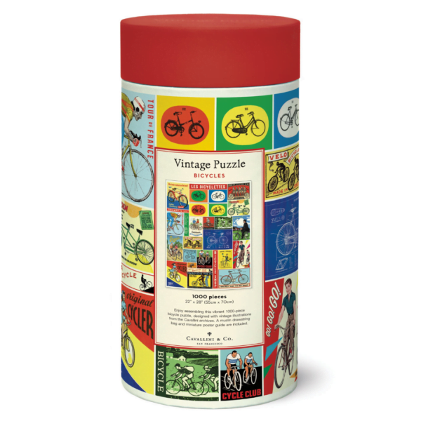 Vintage Puzzle - Bicycle 1000 Piece - Cavallini & Co