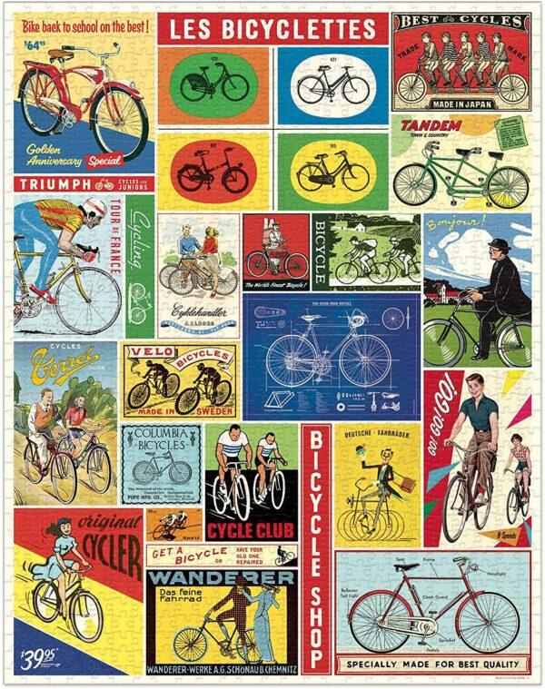 Vintage Puzzle - Bicycles 1000 Piece - Cavallini