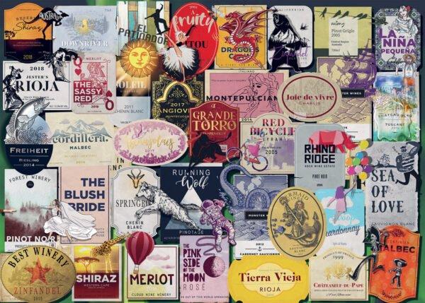 Wine Labels 1000 Piece Puzzle - Ravensburger