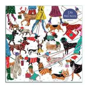 Winter Dogs 500 Piece Puzzle - Galison