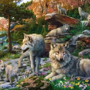 Wolves in Spring 1500 Piece Puzzle - Ravensburger