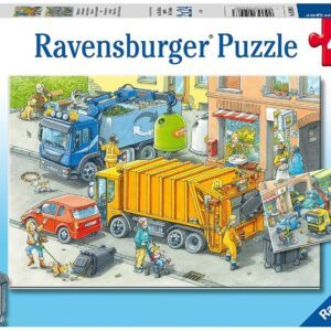 Working Trucks 2 x 24 Piece Puzzle - Ravensburger