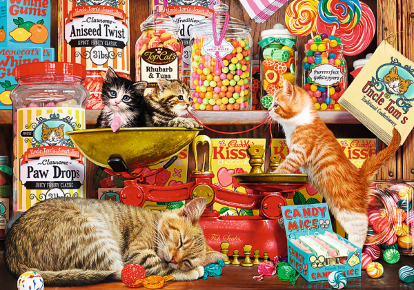 Cats Sweets 1000 Piece Puzzle - Trefl