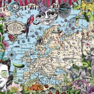European Map, Quirky Circus 500 piece puzzle - Ravensburger