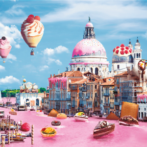 Funny Cities Sweets in Venice 1000 Piece Puzzle - Trefl