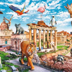 Funny Cities Wild Rome 1000 Piece Puzzle - Trefl