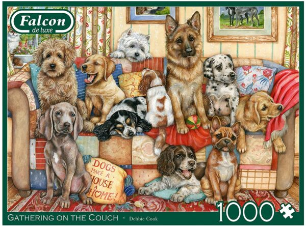 Gathering on the Couch 1000 Piece Puzzle - Falcon de luxe