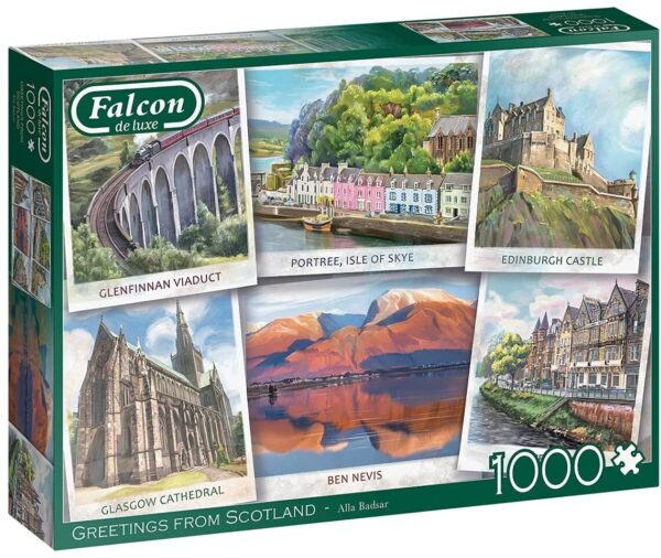 Greetings from Scotland 1000 piece Jigsaw Puzzle - Falcon de luxe