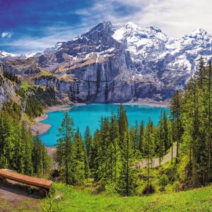 Lake Oeschinen Alps, Switzerland 1500 Piece Puzzle - Trefl