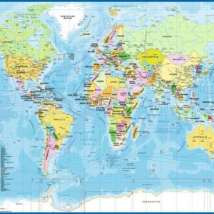 Map of the World 200 XXL Piece Puzzle - Ravensburger