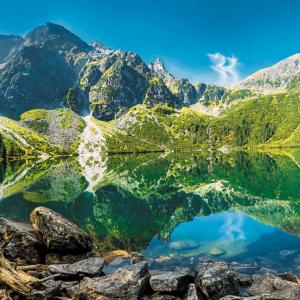 Morskie Oko Lake, Tatras, Poland 1500 Piece Puzzle - Trefl