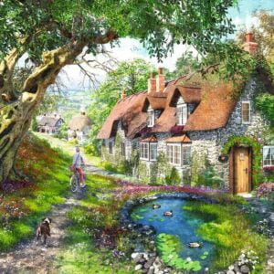 No 1 Down The Lane - Flower Hill Lane 1000 Piece Puzzle - Ravensburger
