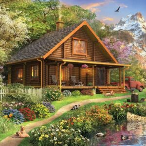 Picture Perfect 7 - Log Cabin Home 1000 Piece Puzzle - Holdson