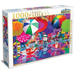 Raining Cats and Dogs 1000 Piece Puzzle - Tilbury