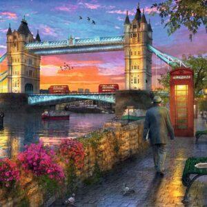 Tower Bridge at Sunset 1000 Piece Puzzle - Ravensburger