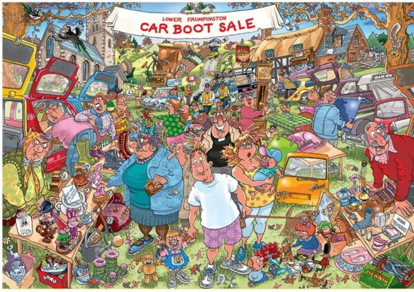 Wasgij Original 35 - Car Boot Capers 1000 Piece Puzzle - Holdson