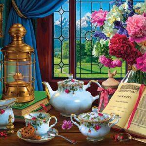 Window Wonderland - Teatime Meadow 1000 Piece Puzzle - Holdson