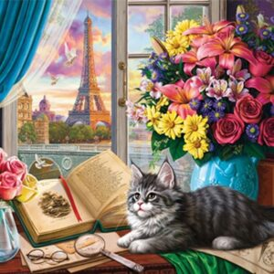 Window Wonderland - Tower for a Tabby 1000 Piece Puzzle - Holdson