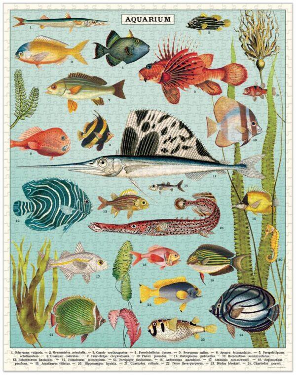Aquarium 1000 Piece Puzzle - Cavallini