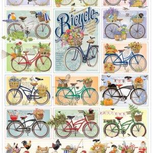 Bicycles 1000 Piece Puzzle - Cobble Hill