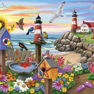 Birdsong 2 - Garden by the Sea 1000 Piece Puzzle - Holdson