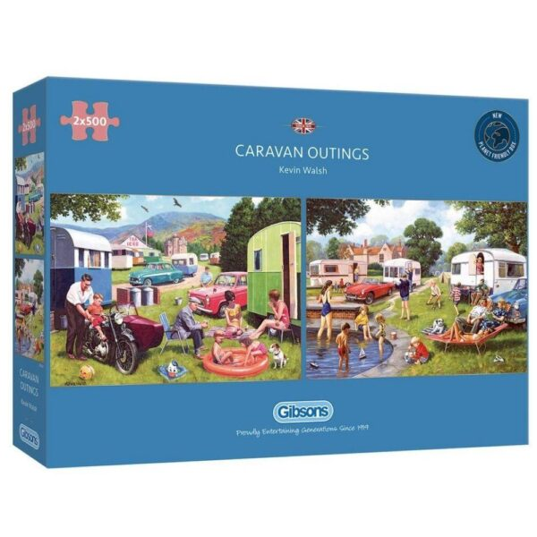 Caravan Outings 2 x 500 Piece Puzzle - Gibsons