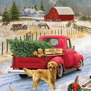 Christmas on the Farm 1000 Piece Puzzle - Cobble Hill