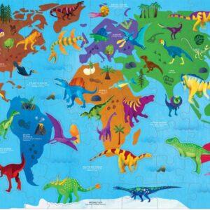 Dinosaur World Geography 80 Piece Puzzle