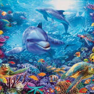 Dolphins at Play 1000 Piece Puzzle - Cobble Hill