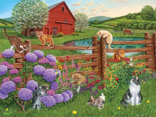 Farm Cats 275 XL Piece Puzzle - Cobble Hill