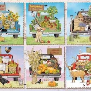 Farmer's Market Trucks 1000 Piece Puzzle - Cobble Hill