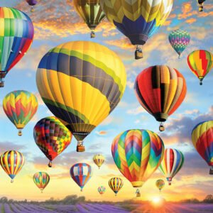 Hot Air Balloons 1000 Piece Puzzle - Cobble Hill